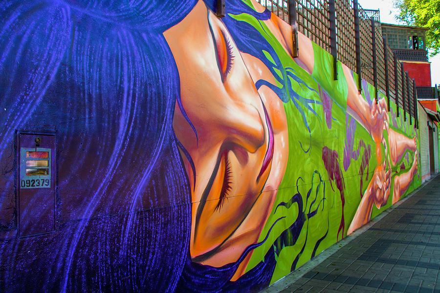 Heads Up, Street Art. Lima, Peru by Venetia Featherstone-Witty