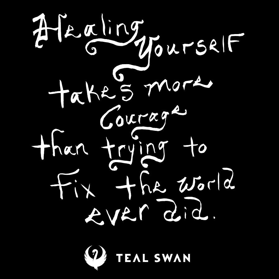 Healing Yourself Quote by Teal Eye Print Store