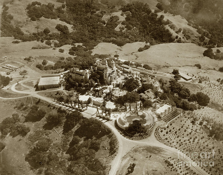 Hearst Castle in San Simeon, California Circa 1940 by California Views Archives Mr Pat Hathaway Archives