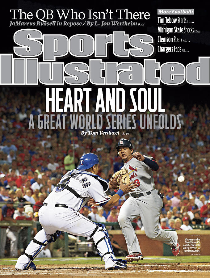 Heart And Soul A Great World Series Unfolds Sports Illustrated Cover Photograph by Sports Illustrated