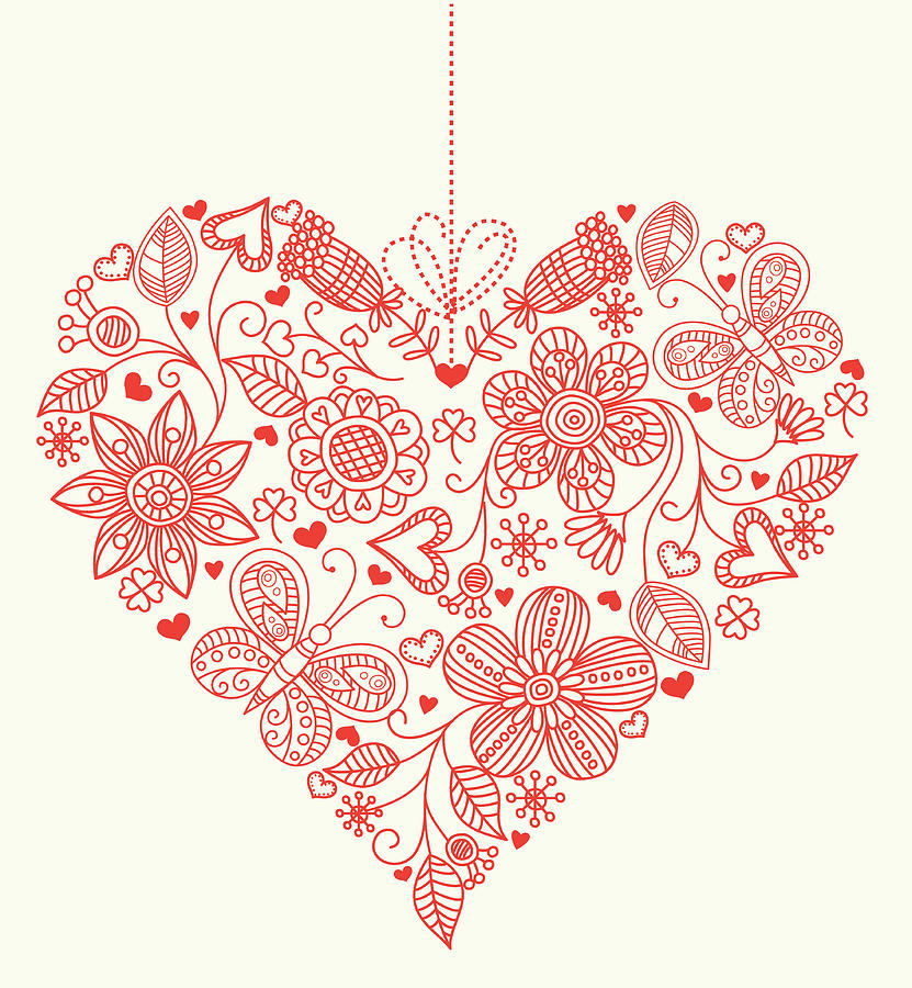 Heart Background Digital Art by Pworld