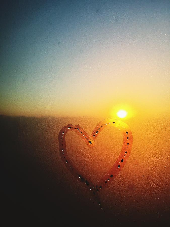 Heart Drawn On Condensed Window Photograph by Sungil Lee / Eyeem