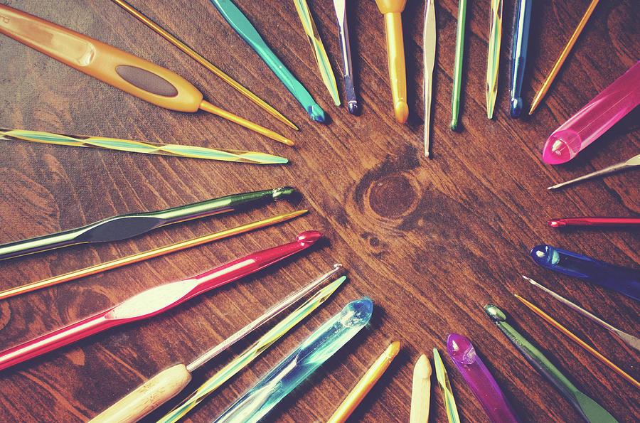Heart Of Crochet Hooks Photograph by Lisa Gutierrez