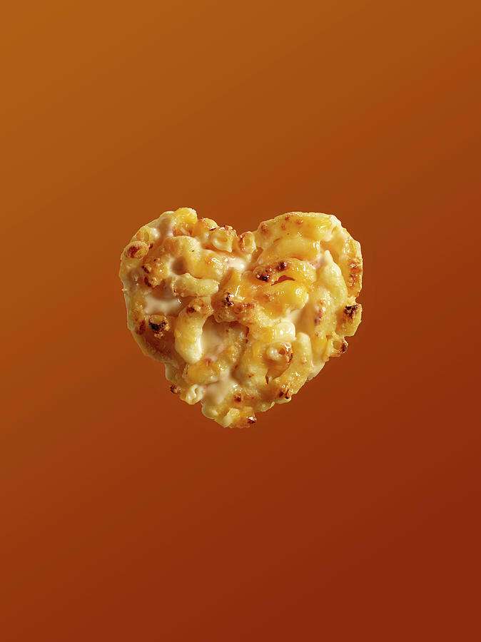 Heart Shaped Macaroni And Cheese On Photograph by Maren Caruso
