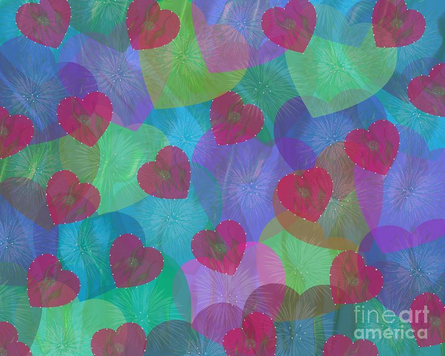Hearts Aflame by Diamante Lavendar