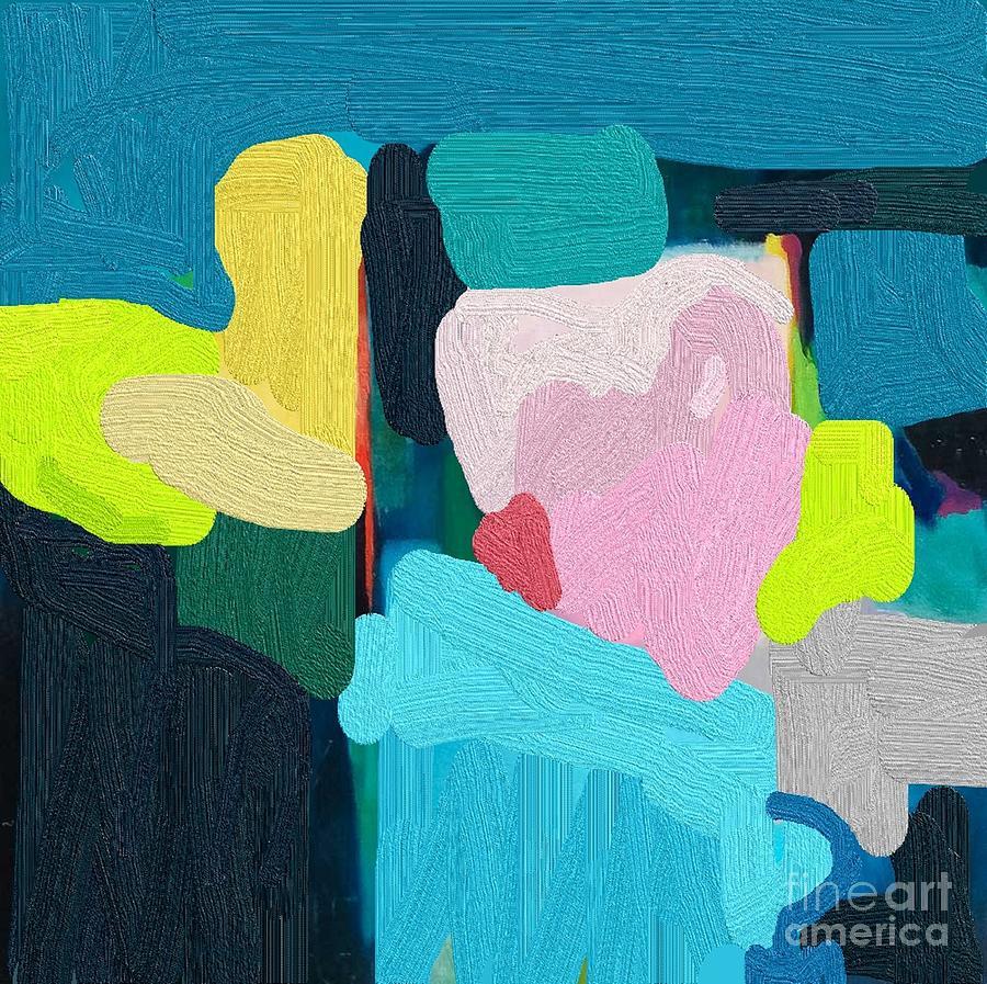 Blue Mixed Media - Hearts And Blue  by Vesna Antic