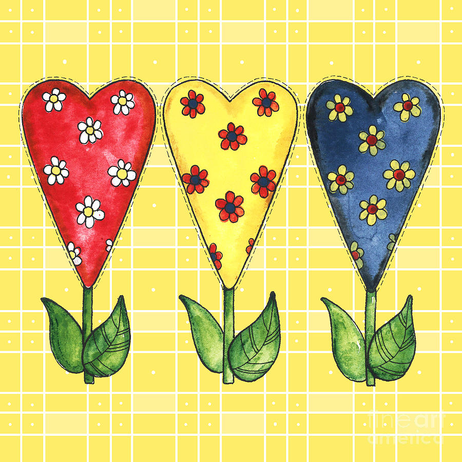 Hearts in Primary Colors by Shelley Wallace Ylst