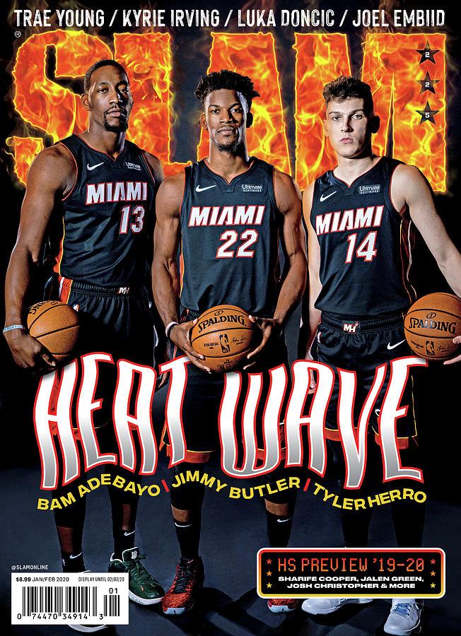 Jimmy Butler Photograph - Heat Wave: Bam Adebayo, Jimmy Butler, Tyler Herro SLAM Cover by Atiba Jefferson