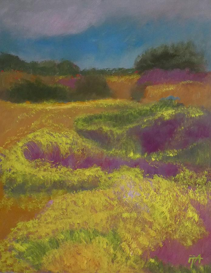 Landscape Painting - Heather Meadow by Irena Jablonski