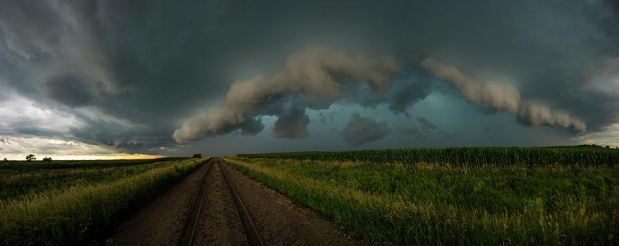 Huron Photograph - Heathers birthday storm by Aaron J Groen