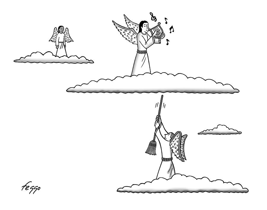 Heavenly Music Drawing by Felipe Galindo