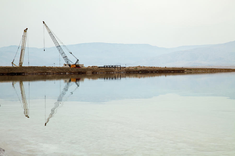 Heavy Machinery At The Dead Sea Photograph by Eldadcarin