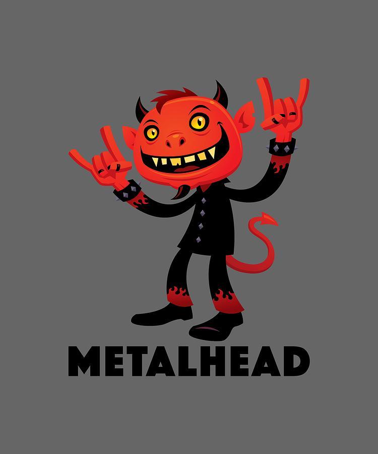 Heavy Metal Devil Metalhead Digital Art