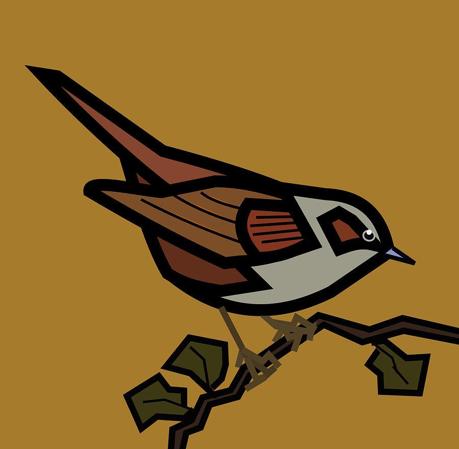 Hedge Sparrow Digital Art