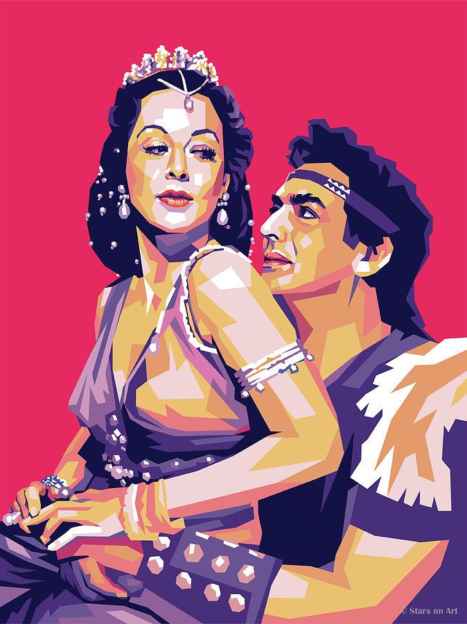 Hedy Lamarr And Victor Mature Digital Art