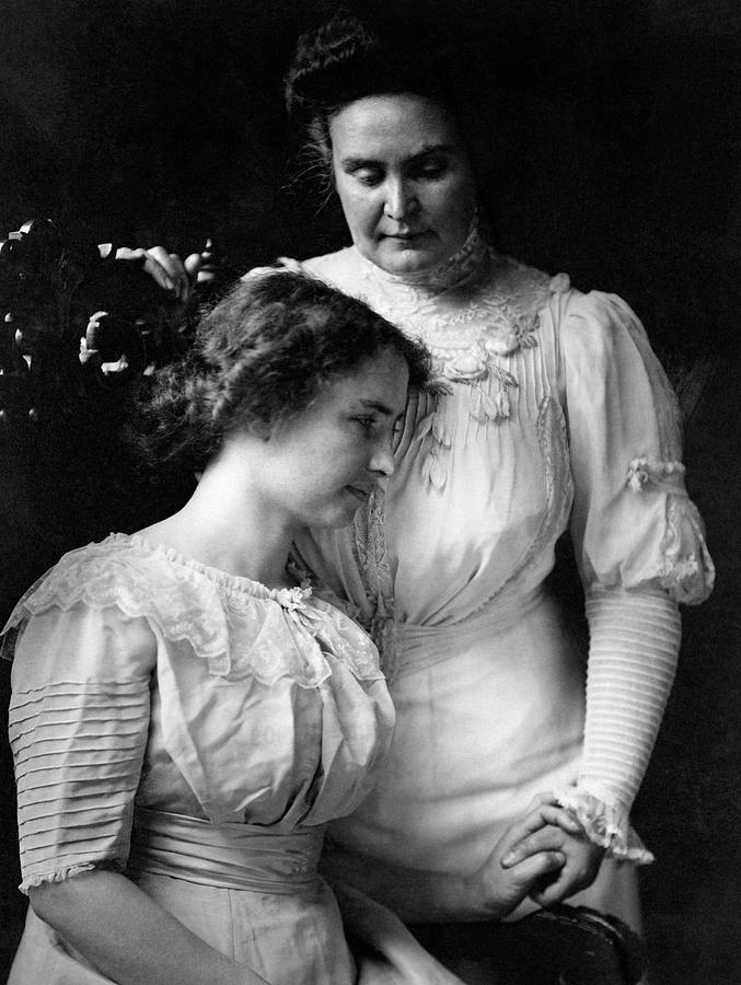 Helen Keller and Anne Sullivan Portrait - 1909 by War Is Hell Store