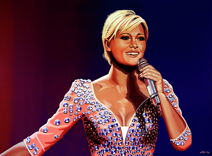 Helene Fischer Painting by Paul Meijering