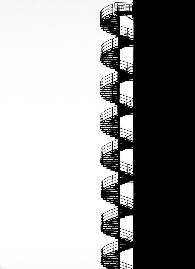 Stairs Photograph - Helix by Hans-wolfgang Hawerkamp