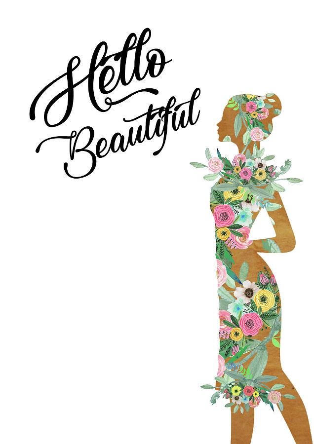 Woman Mixed Media - Hello Beautiful by Claudia Schoen