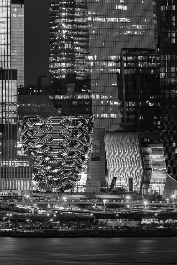 Hello Hudson Yards NYC BW by Susan Candelario