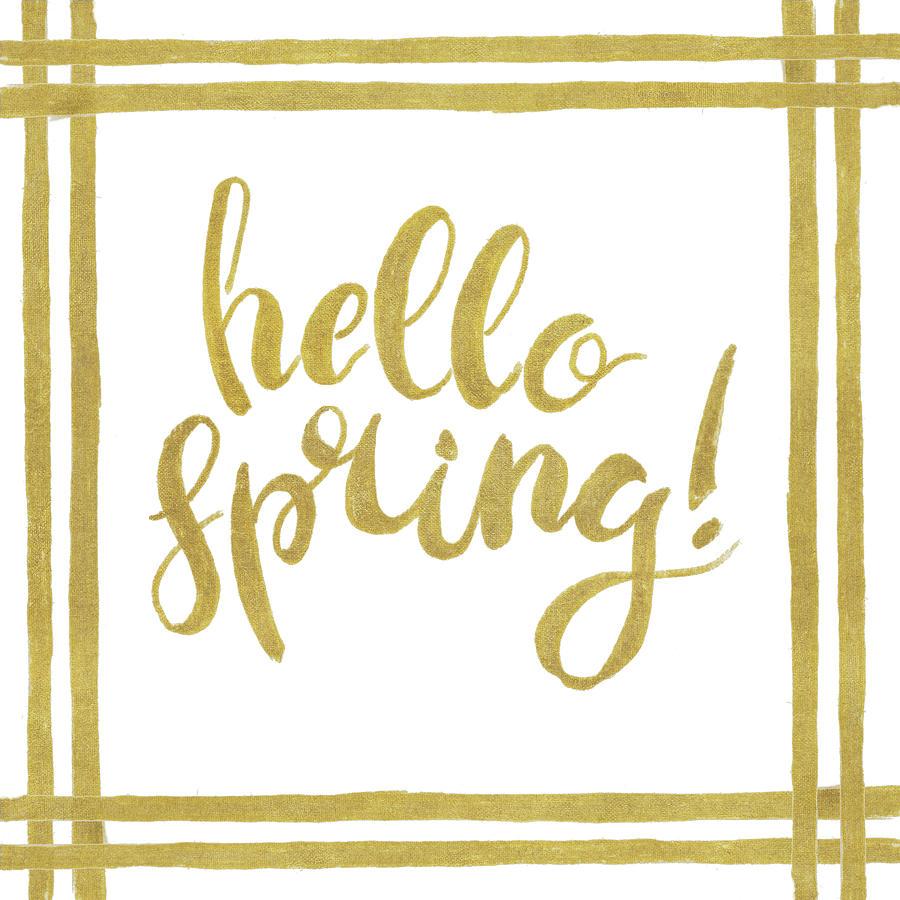 Hello Mixed Media - Hello Spring by Patricia Pinto