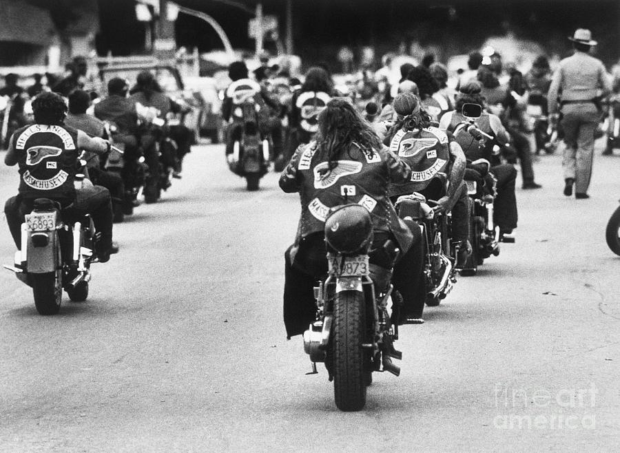 Hells Angels Ride The Streets Photograph by Bettmann