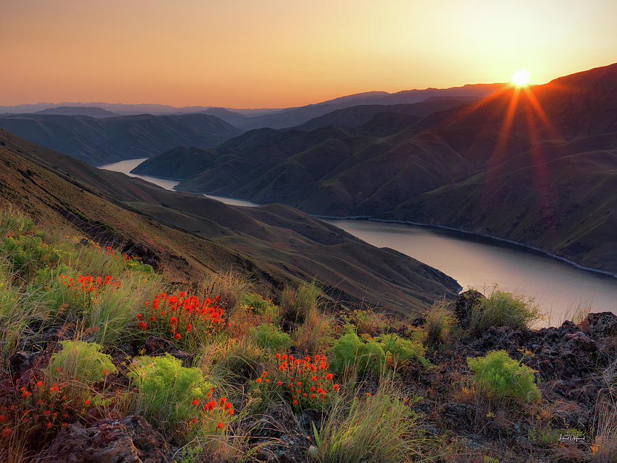 Altitude Photograph - Hells Canyon Sunrise by Leland D Howard