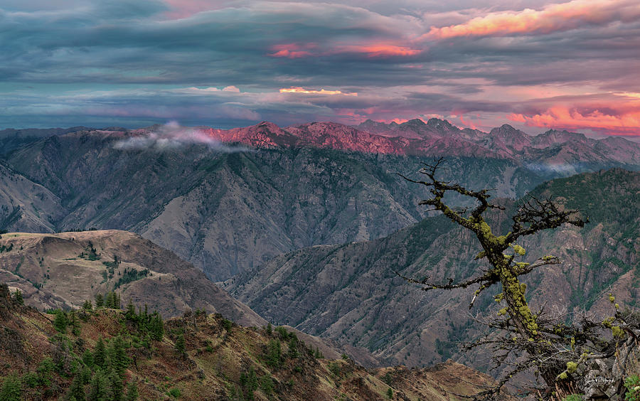 Altitude Photograph - Hells Canyon Sunset 2 by Leland D Howard