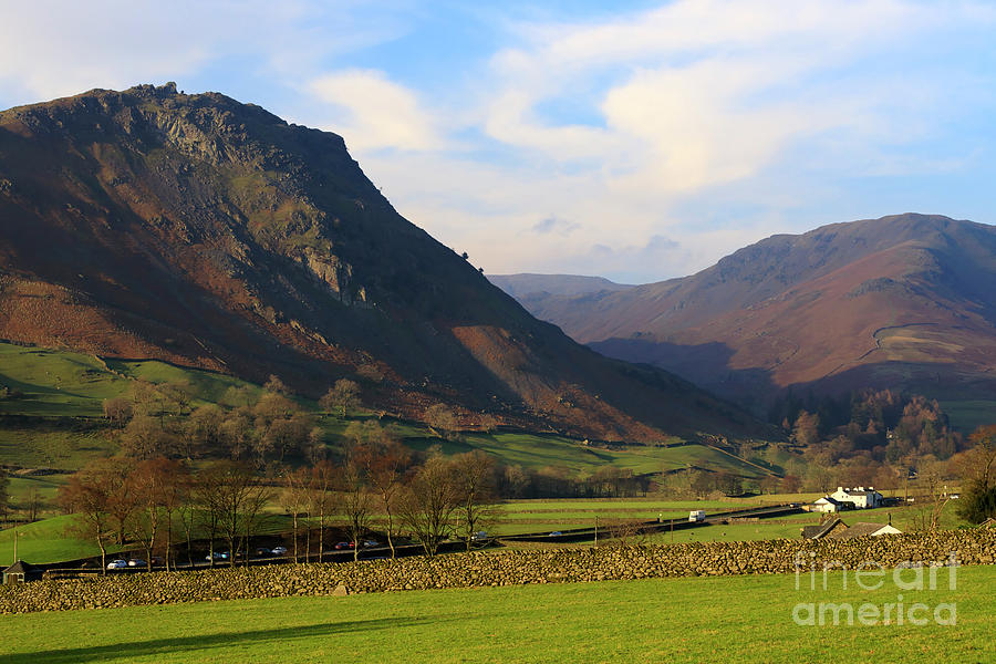 Grasmere Photograph - Helm Crag And Wythburn Fells Above Grasmere In The Lake District by Louise Heusinkveld