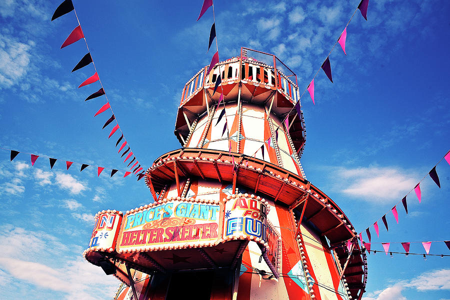Helter Skelter With Bunting Photograph by Nick Kee Son