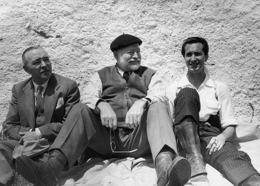 Hemingways Spain Photograph by Hulton Archive