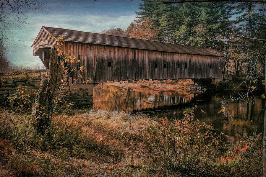 Hemlock Covered Bridge Fryeburg,Maine. by Rusty R Smith