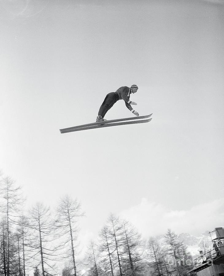 Hemmo Silvennionen Ski Jumping Photograph by Bettmann