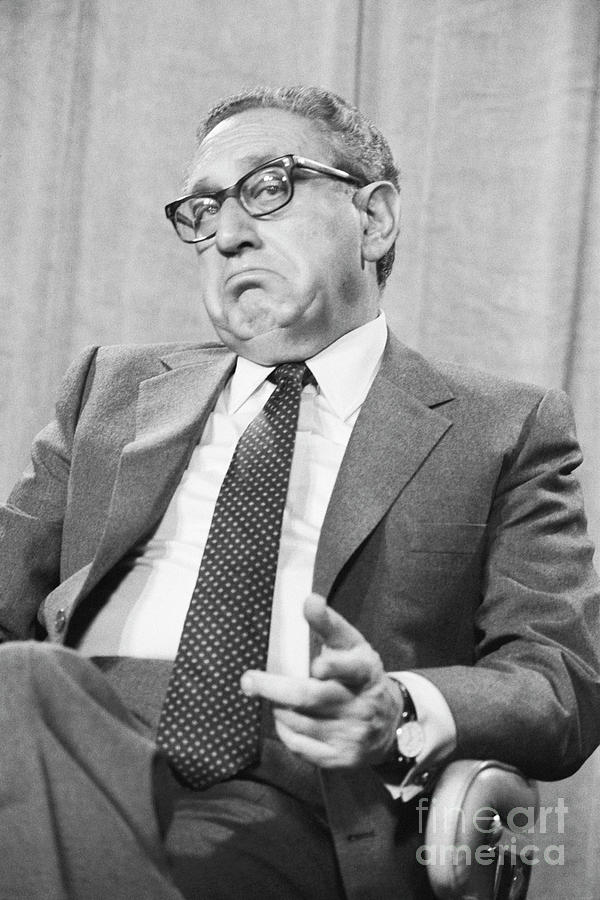 Henry Kissinger Appears On Television Photograph by Bettmann