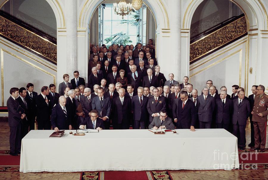 Henry Kissinger At Russian Treaty Photograph by Bettmann