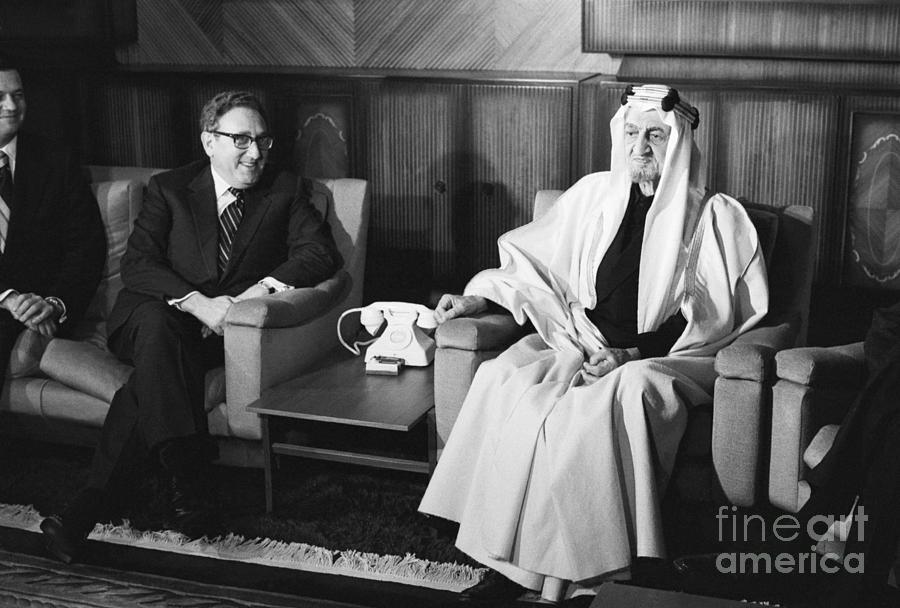 Henry Kissinger With King Faisal Photograph by Bettmann