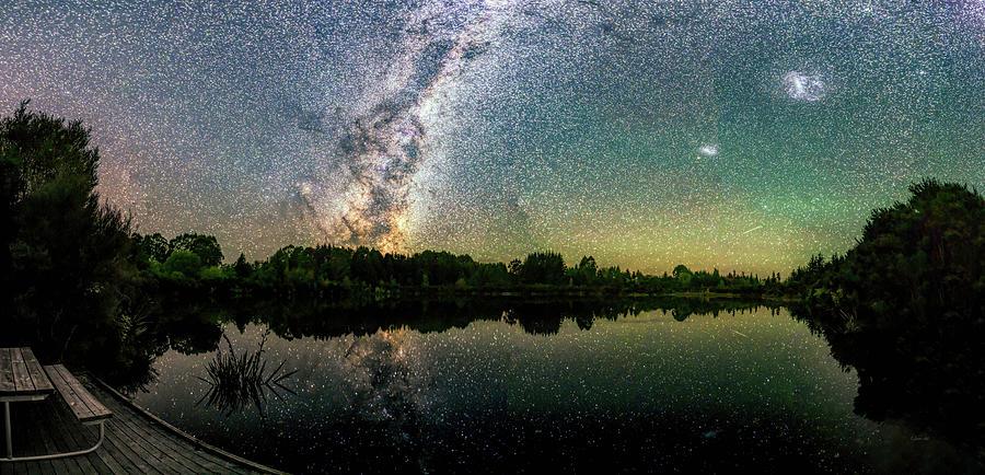 Henry Lake New Zealand Under  Southern Hemisphere Skies  By Olena Art by OLena Art - Lena Owens