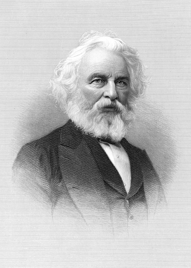 1800s Painting - Henry Wadsworth Longfellow (1807-1882) by H.b. Hall And Sons