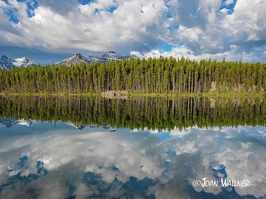Alberta Photograph - Herbert Lake Panorama by Joan Wallner