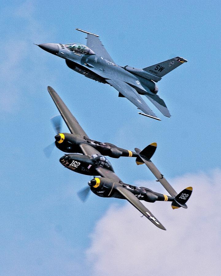 Aviation Photograph - Heritage Flight by John Bates