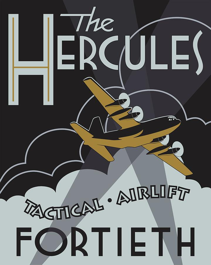 Herk Deco - 40th Airlift Squadron Edition by Michael Brooks