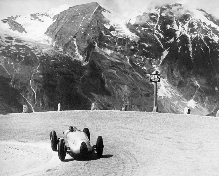 Hermann Muller In An Auto Union, German Photograph by Heritage Images