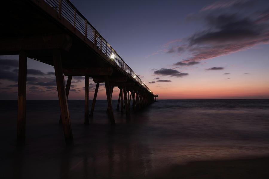 Hermosa Beach Pier Photograph by Skyhobo