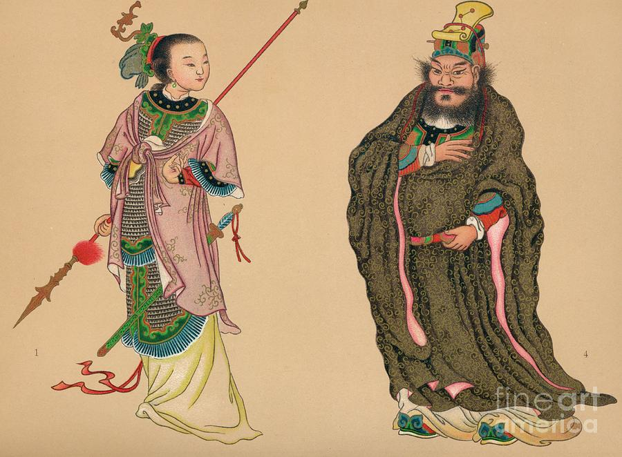 Heroes And Heroines Of Chinese History Drawing by Print Collector