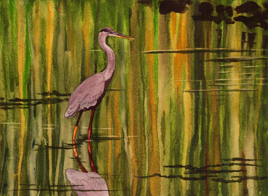 Heron Drip by Heidi E Nelson