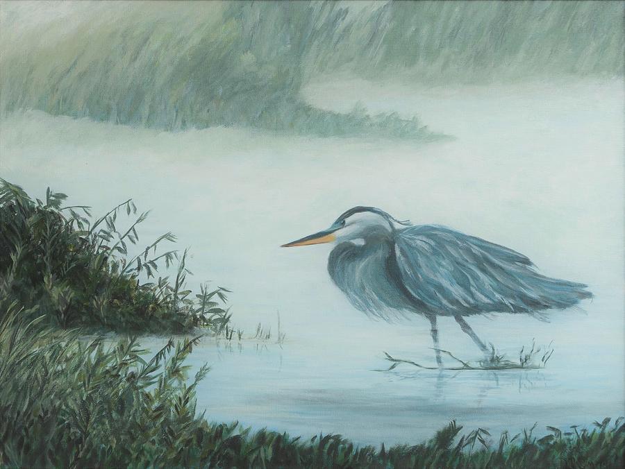 Heron in Mist by Deborah Smith
