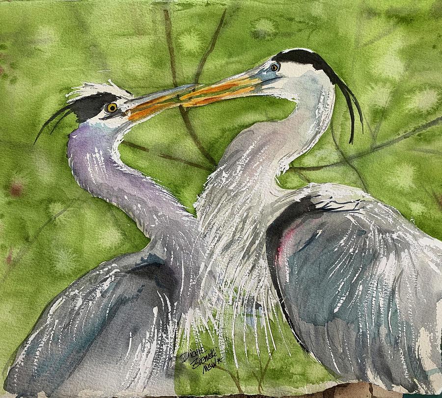 Heron love by Diane Ziemski