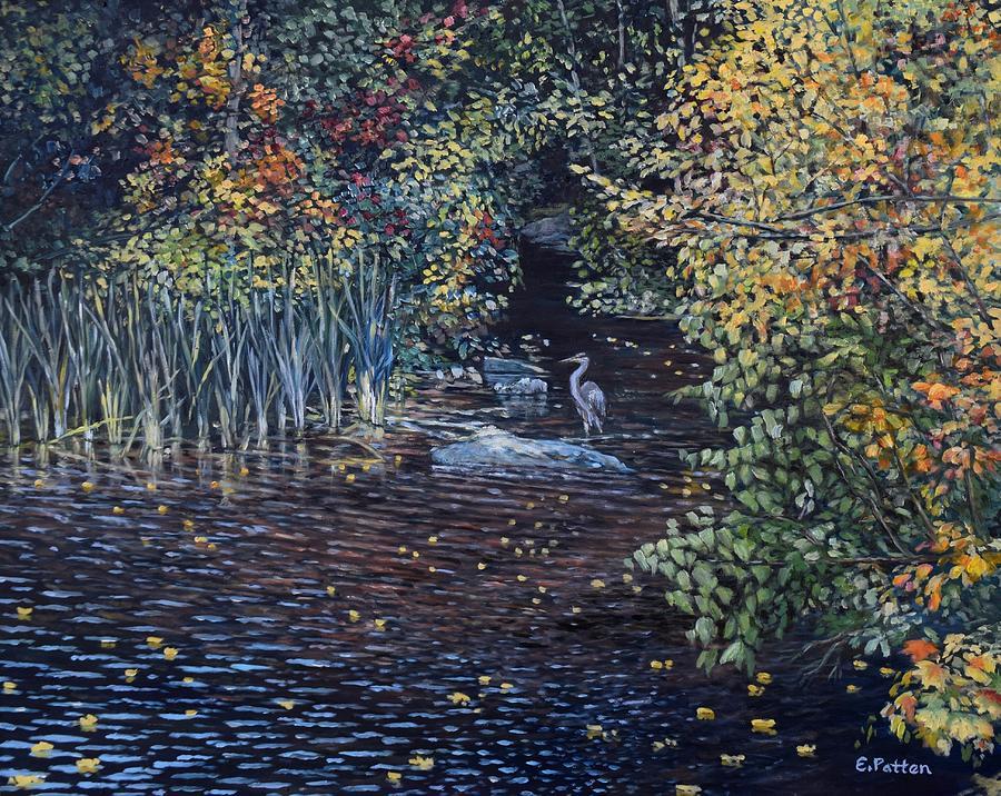 Heron, Somes Brook, Somesville, Maine by Eileen Patten Oliver