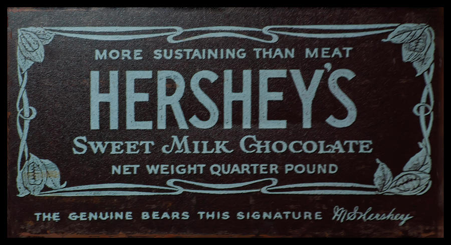Hersheys chocolate advertising by Chris Flees