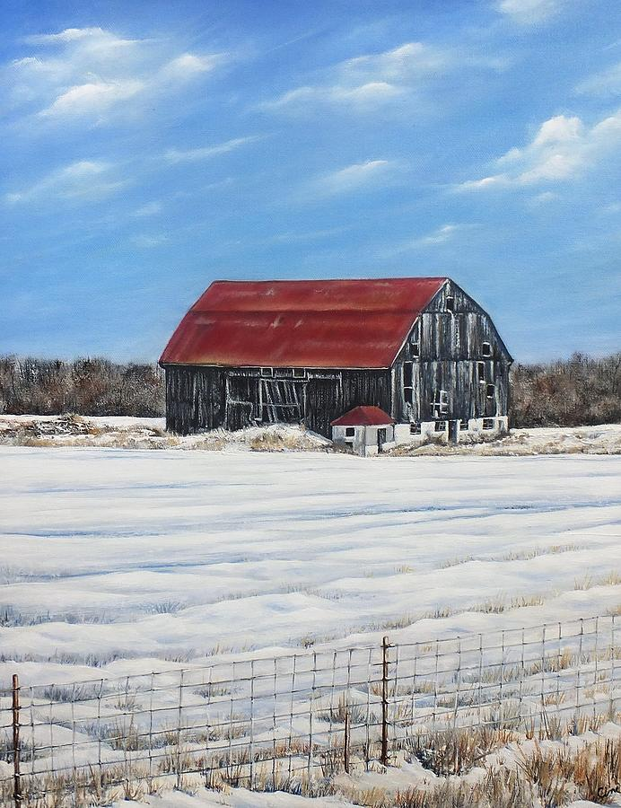 Old Barn Painting - Hewson Barn by Lisa Cini